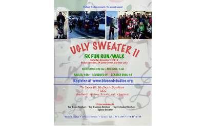 Poster for BluSeed Ugly Sweater Fun Run/Walk