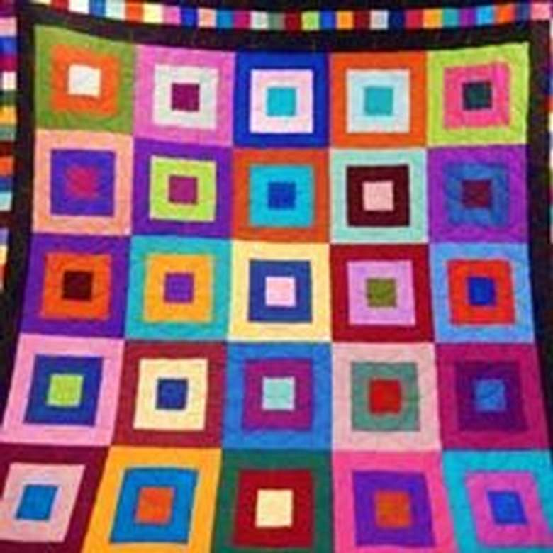 "Sandra Catricala - ""block party quilt""  from Wilton, NY"