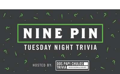 Tuesday Night Trivia at Nine Pin on 11/19 at 6:30pm