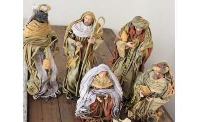 Unique large nativity set on display at Parks-Bentley Place