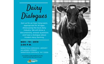 Join us at the Saratoga Library to learn more about the dairy industry!