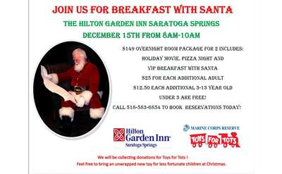 santa breakfast flyer
