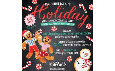 Bountiful Bread's Kid's Holiday Cookie Decorating Event