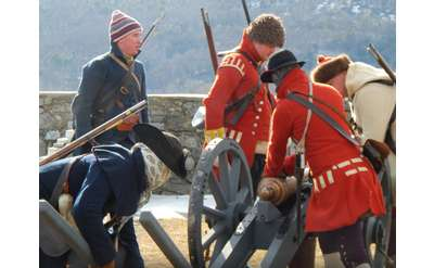 Preparing for the Coming Campaign living history event at Fort Ticonderoga on January 18, 2020.