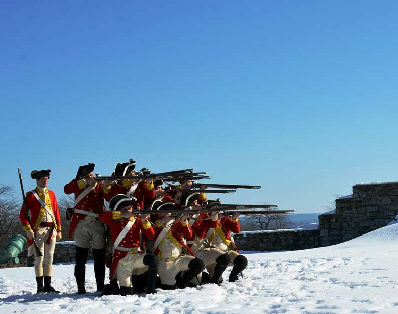 British Garrison Living History Event at Fort Ticonderoga on February 15, 2020.
