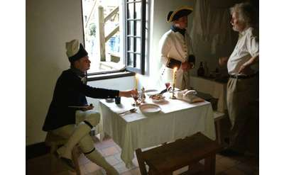 Officers meal as part of new French food event at Fort Ticonderoga