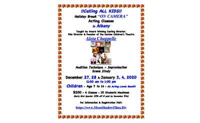 Albany Holiday KIDS Acting Classes Flyer