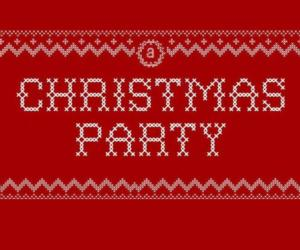 red image saying Christmas Party
