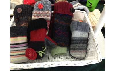 Handcrafted mittens