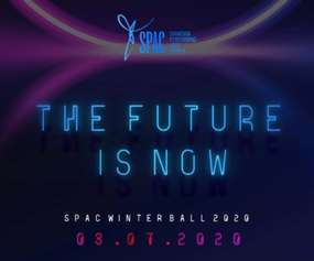 banner that says the future is now