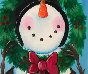 painting of snowman
