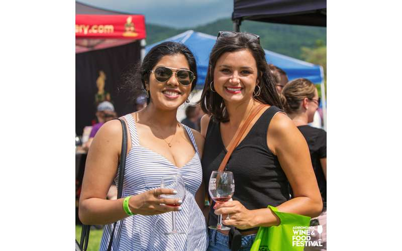 two friends at the adirondack wine and food festival