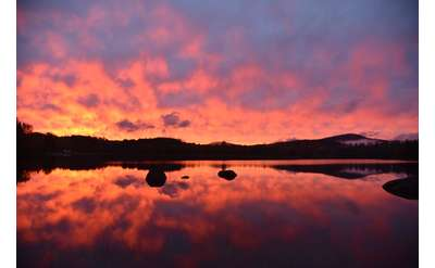 Sunset on Lake Harris Newcomb NY