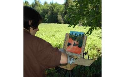 Dennon Walantus plein air painting