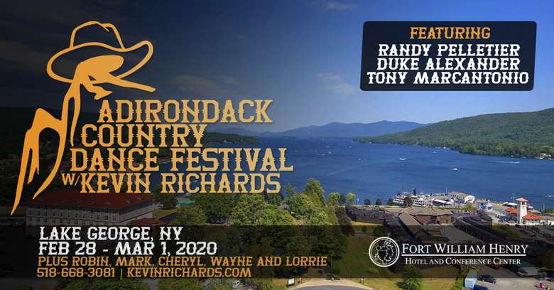 Adirondack Country Dance Festival flyer with  Overview of Lake George