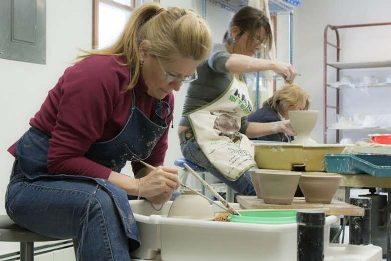 SCAC Artists Making 1000 Bowls for the fundraiser