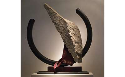sculpture made from granite and steel