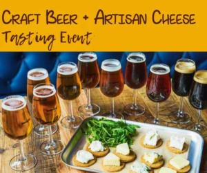 beer and cheese event poster