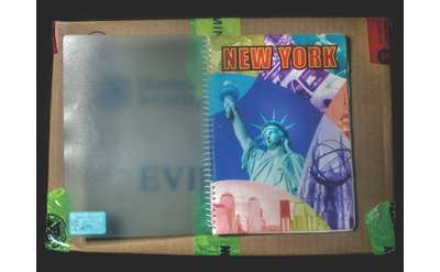 planner with new york and the statue of liberty on the cover