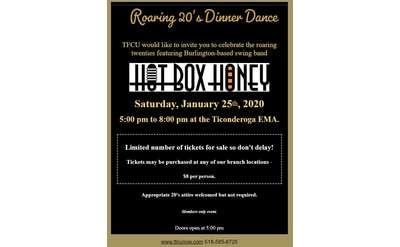 dinner dance event poster