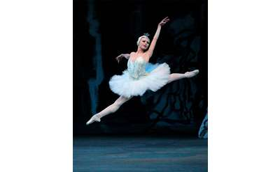 ballerina performing in swan lake