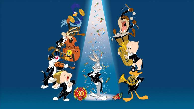 bugs bunny and other loony tunes characters playing instruments
