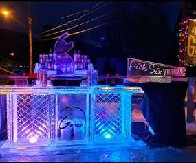 ice bar at night