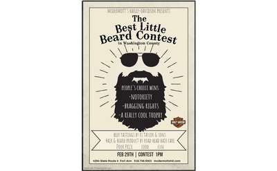 poster with details of the best little beard contest listed in the event description