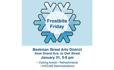 frostbite friday flyer with details noted in event description