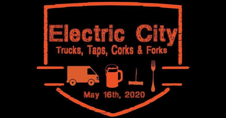 Electric City Trucks, Taps, Corks & Forks Banner