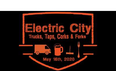 Electric City Trucks, Taps, Corks & Forks Banner