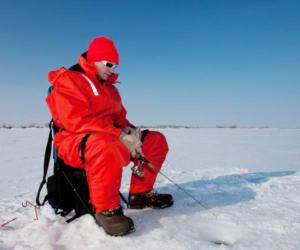 guy ice fishing