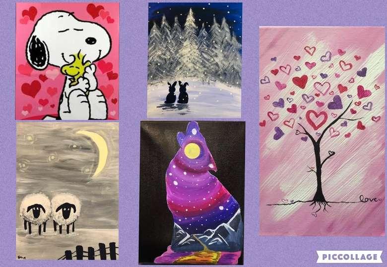 February open art specials