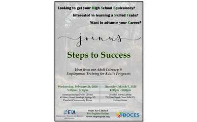 Steps to Success BOCES Flyer
