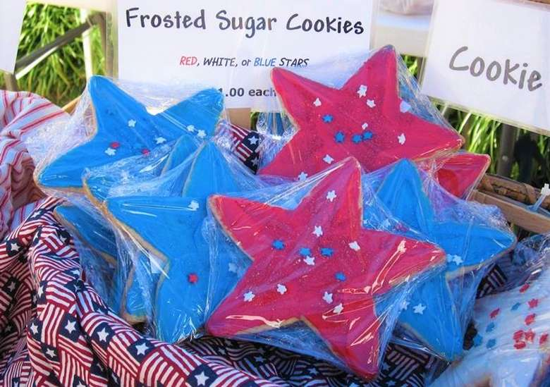 Fourth of July cookies at the Market