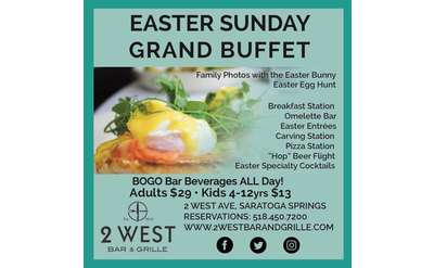 Easter Sunday Grand Buffet at 2 West Bar and Grille