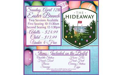 Join us for Easter Brunch with the Easter Bunny