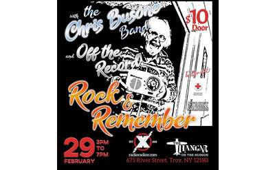 2/29/20 3pm www.RadioRadioX.com Presents Rock & Remember Benefit for Pop's Sweeny w/ Off The Record, The Hangar,River St,Troy
