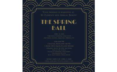 invitation to the spring ball with date and details as mentioned in the body of the event listing