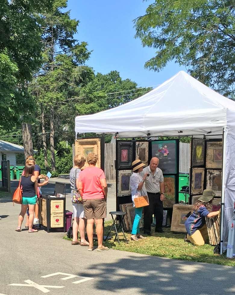 Vendor Tent at Rhinebeck Crafts Festival