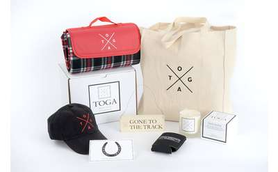toga heritage products including a tote bag and baseball cap