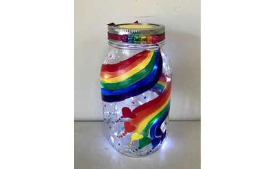 Rainbow Light-up Jar