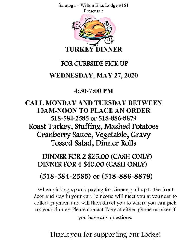 Turkey Dinner Flyer