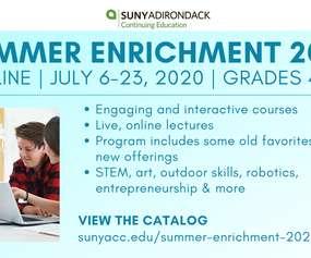 SUNY ADK Summer Enrichment 2020