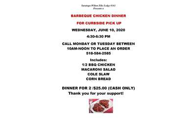 Flyer for BBQ Chicken Dinner
