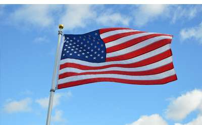 flag waving in the air