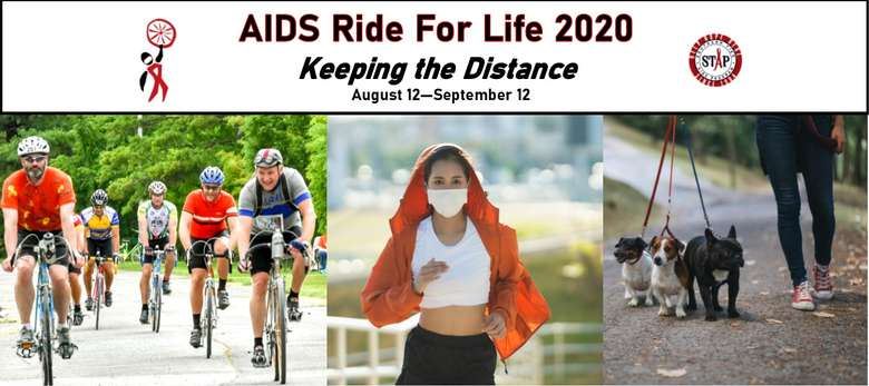 AIDS Ride for Life 2020: Keeping the Distance