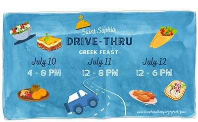 st. sophia drive-thru feast banner