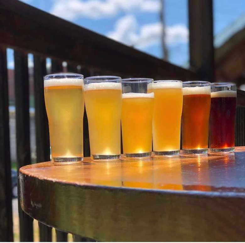 six beers in different colors