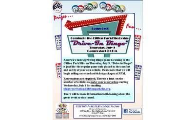 Drive-In Bingo Flyer